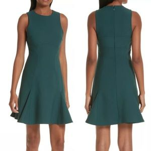 CINQ A SEPT Dress Elizabeth Rainforest Green Mini